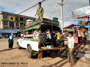 Transporte en el Sudeste asiatico - camioneta Myanmar