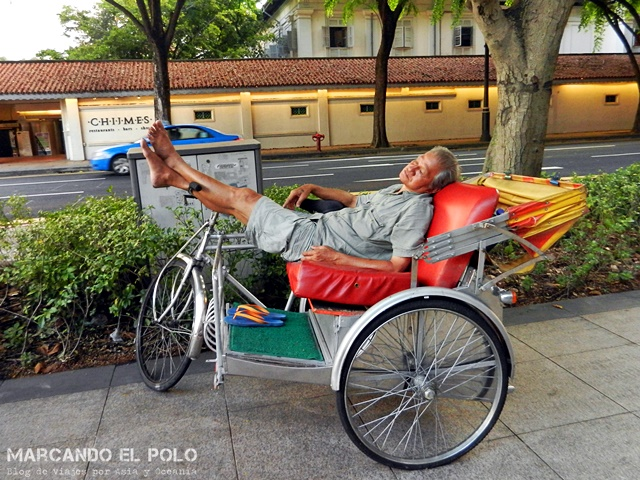 Transporte en el Sudeste asiatico: Rickshaw, Singapur