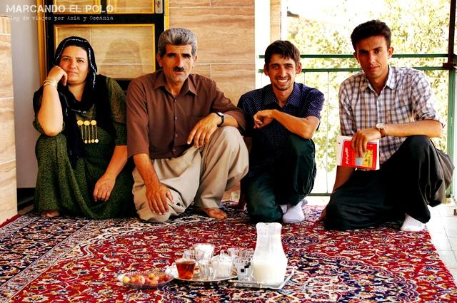 Casa de familia kurda en Irán