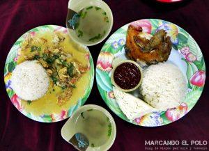 Viajar a Brunei - nasi katok y buttermilk