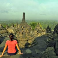 Viajar al Sudeste asiatico - Amanecer en Borobudur, Indonesia