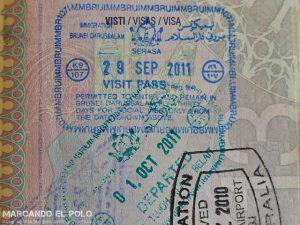 Viajar a Brunei - Visa