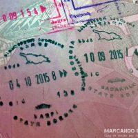 Visa de Georgia - Sello de entrada