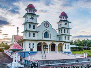 Que ver en Samoa - Iglesia Lalomanu, Savai'i
