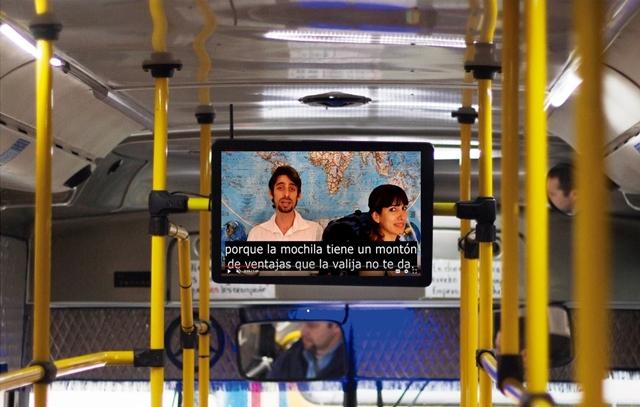 Televisión en colectivos de Buenos Aires - Marcando el Polo