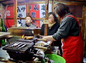 Viajar a Japon - comida callejera Fukuoka