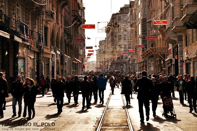 Mejor zona para alojarse en Estambul - Istiklal