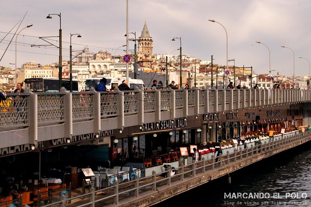 Mejor zona para alojarse en Estambul - Puente Galata