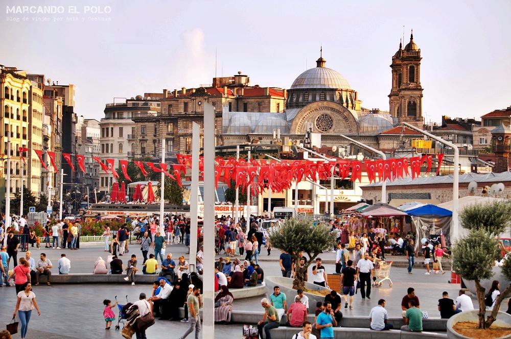 Mejor zona para alojarse en Estambul - Plaza Taksim