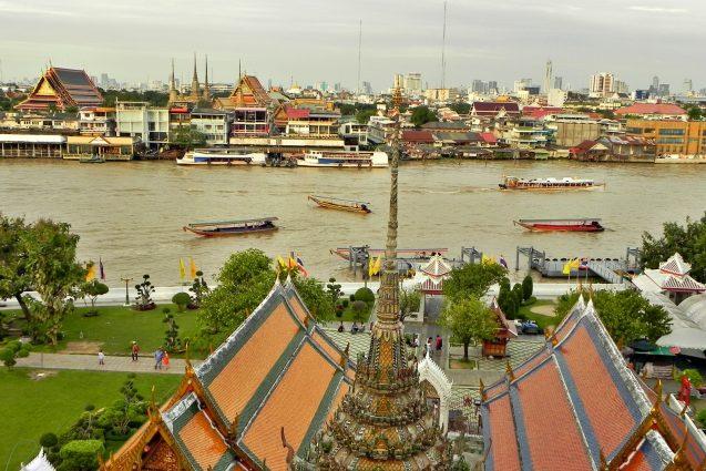 Mejor zona para alojarse en Bangkok - Costa rio Chao Phraya
