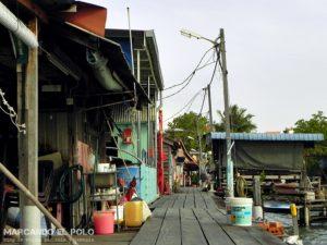 Que ver en Penang - muelles de madera