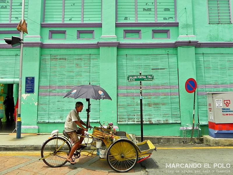 Rickshaw en Georgetown, Penang