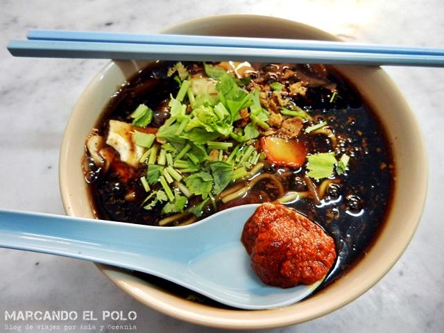 Laksa Penang - plato típico de Malasia