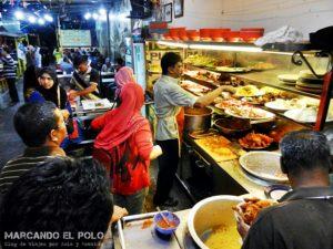 Nasi kandar en Penang, Malasia