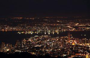 Que ver en Penang - Vista nocturna Penang Hill